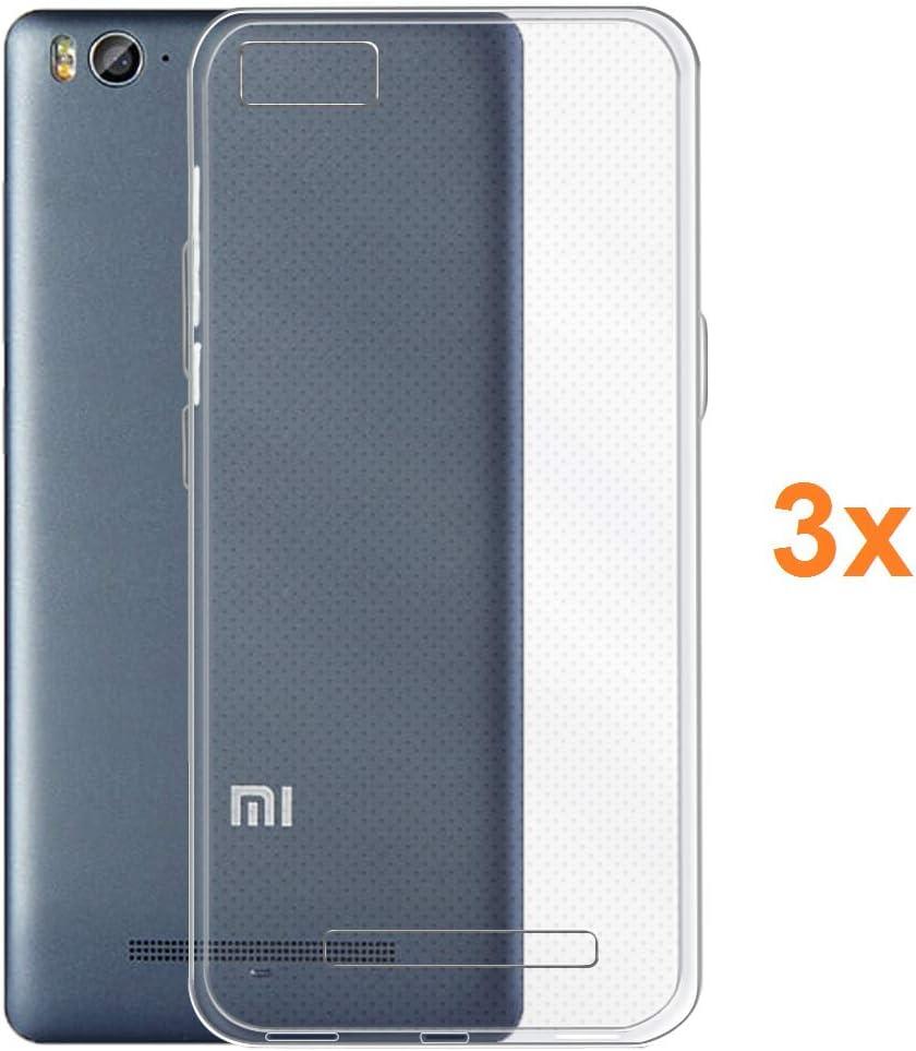 REY 3X Funda Carcasa Gel Transparente para XIAOMI Mi4C / XIAOMI Mi4i - Mi 4C - Mi 4i, Ultra Fina 0,33mm, Silicona TPU de Alta Resistencia y Flexibilidad
