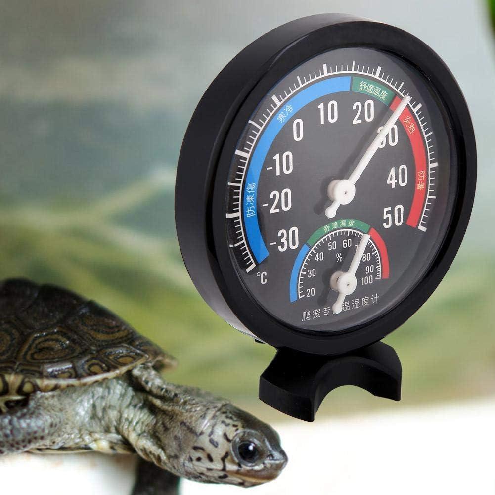 termometro per igrometro a Temperatura terrario di Tartaruga Animale Domestico Gancon Termometro per Habitat per rettili 2 in 1