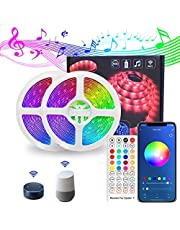 LED Strip Lights, Lights Strip Music Sync, App Control Remote, 5050 RGB LED Light Strip Color Changing, LED Lights Rope Lights for Home TV Party