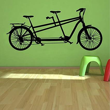 Wuyyii 58X24 Cm Tándem Bicicleta Etiqueta De La Pared Deportes De ...