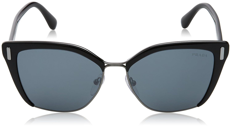 b60e24ef115 Amazon.com  Prada Women s 0PR 56TS Black Gunmetal Grey Mirror Black  Sunglasses  Prada  Clothing
