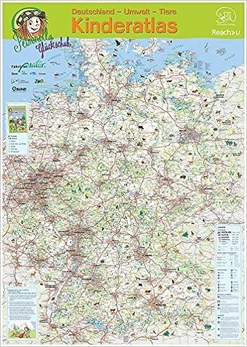 Petronellas Deutschlandkarte Grossformatige Kindgerechte