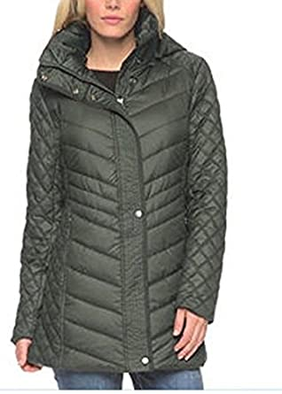 b9ac469278ea Andrew Marc New York Quilted Walker Hooded Women s Jacket Coat ...