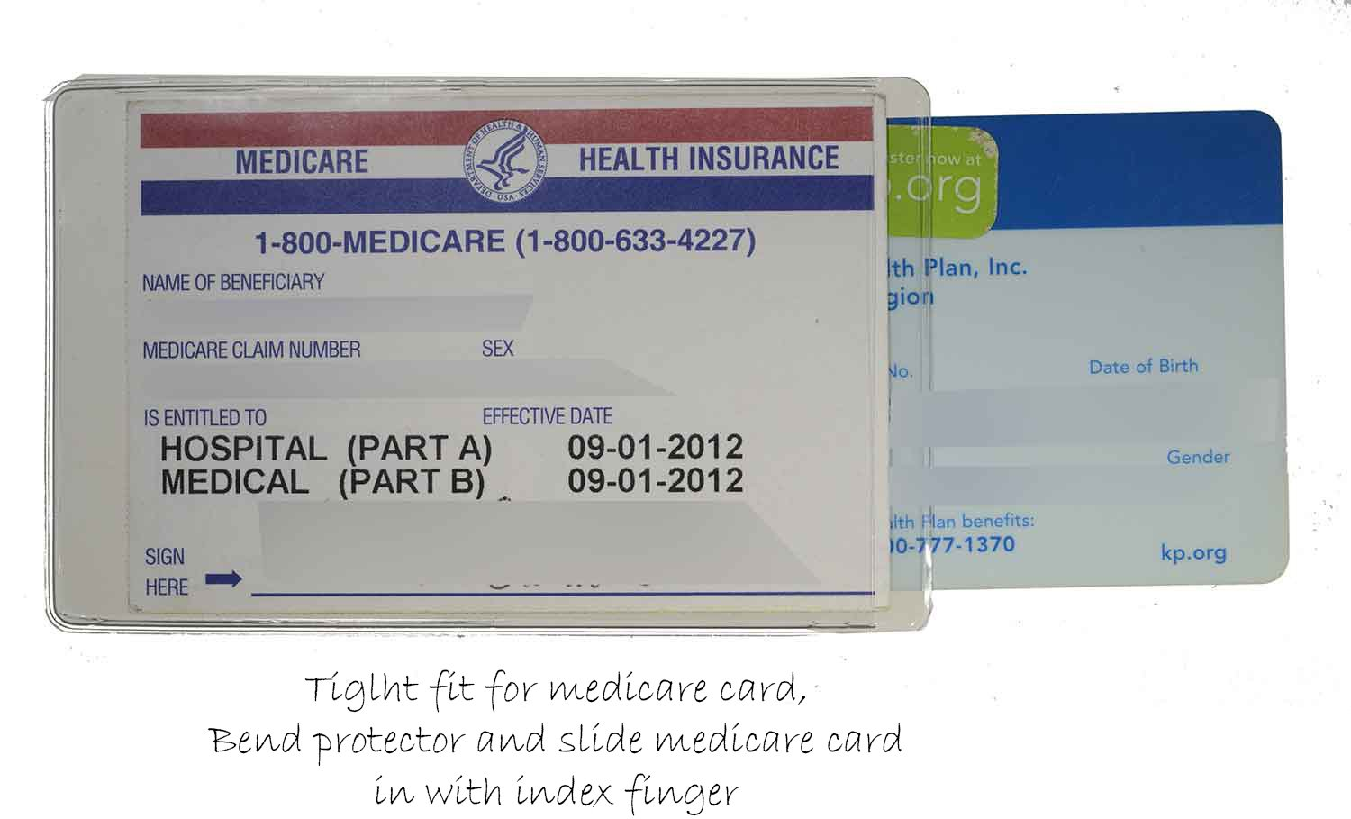 Amazon : Medicare Credit Card Protector Sleeve Clear 6 Mil (24) :  Office Products