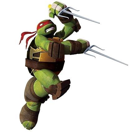 Teenage Mutant Ninja Turtles TMNT Raphael Big Peel & Stick Wall Decals Wall Jammer 15 Decals