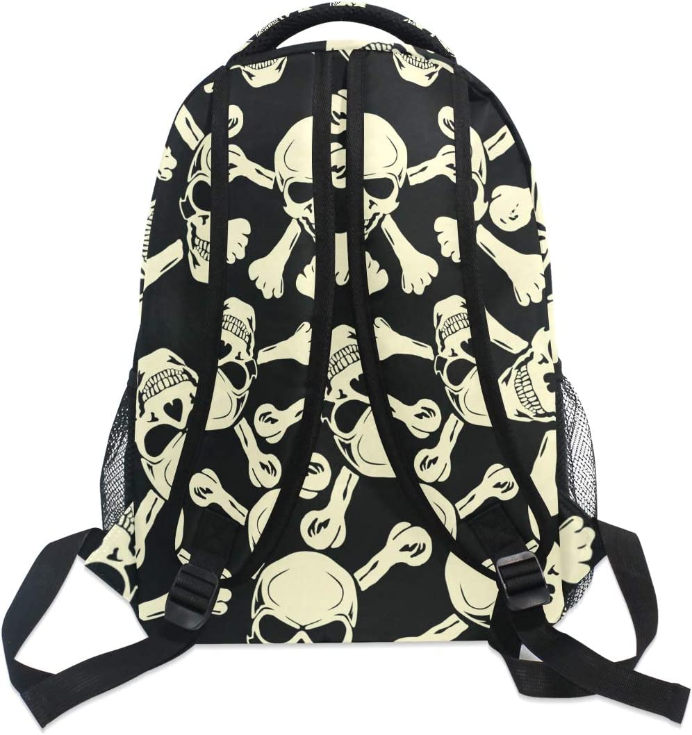 ALAZA Skull Day of the Dead Large Backpack Personalized Laptop iPad Tablet Travel School Bag with Multiple Pockets