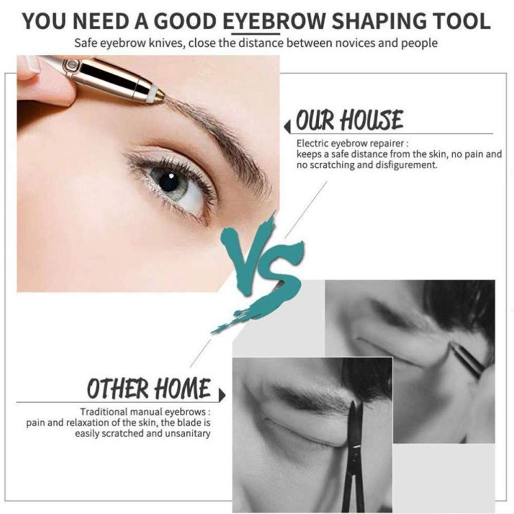 Meidexian888 Electric Eyebrow Trimmer for Women,Portable Eyebrow Hair Remover Special ABS + Stainless Steel Blade Material by Meidexian888 Hair Removal (Image #4)