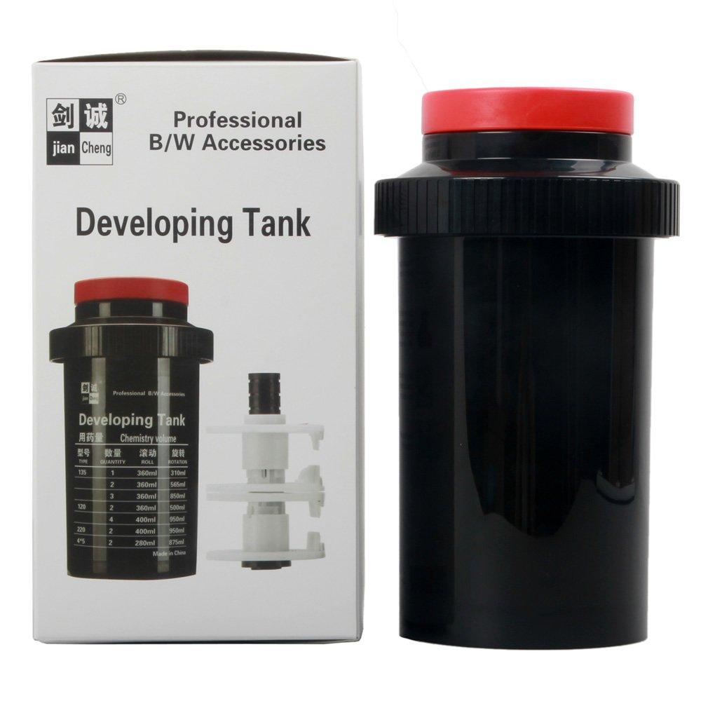 Film Developing Tank 3 Spirals Adjustable 120 127 135 4x5 B/&W Negative Dark Room Processing