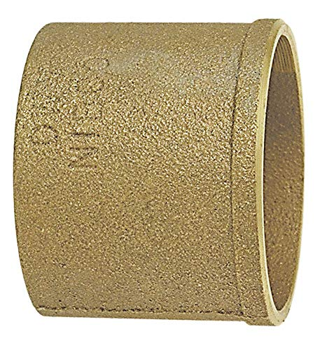 (NIBCO Cast Bronze DWV No Hub Soil Pipe Adapter, C x No Hub Connection Type, 2