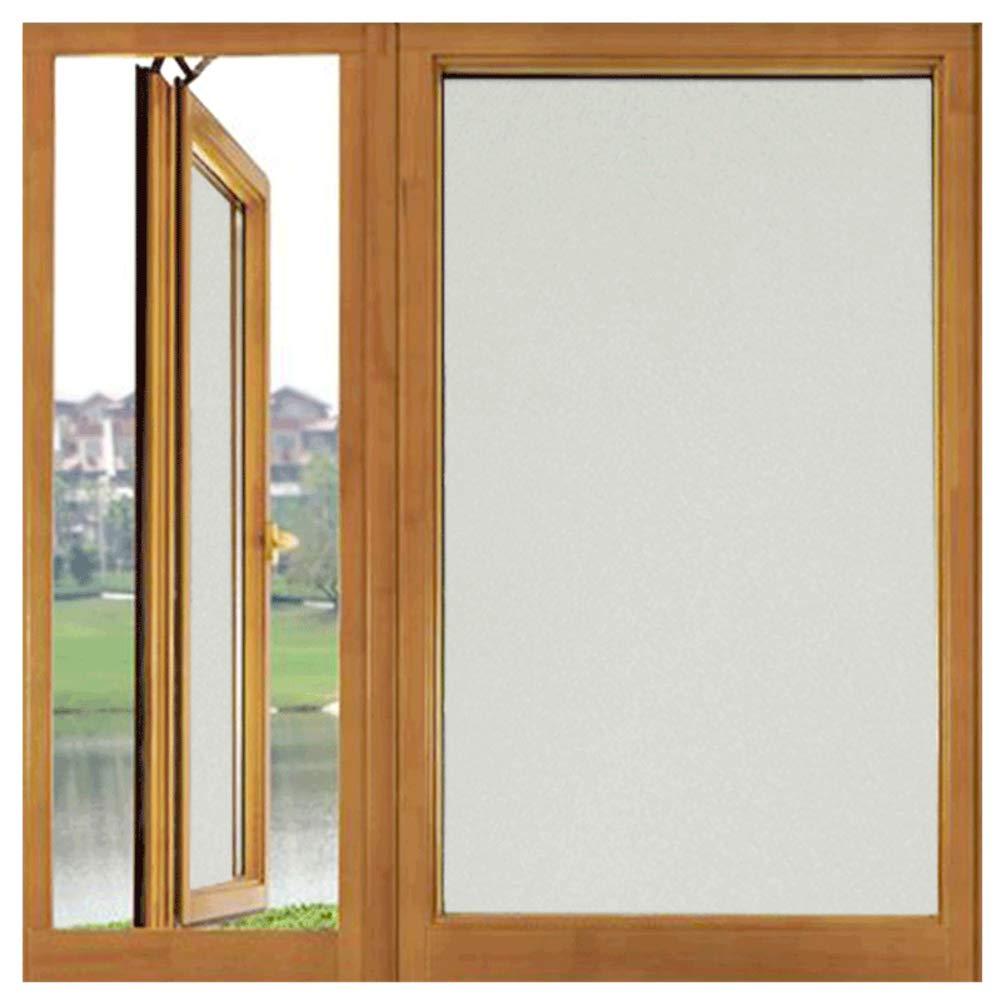 TT& CC Film autoadesivo finestra, Glassato antisole vinile bianco opaco anti uv privacy finestra decorazione finestra sticker cucina bagno-A 20x500cm(8x197inch)