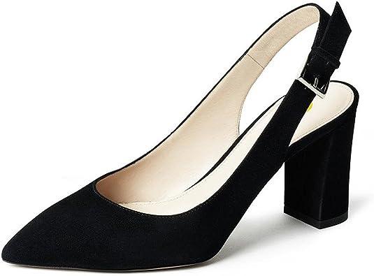 FSJ Women Pointy Toe Slingback Sandals