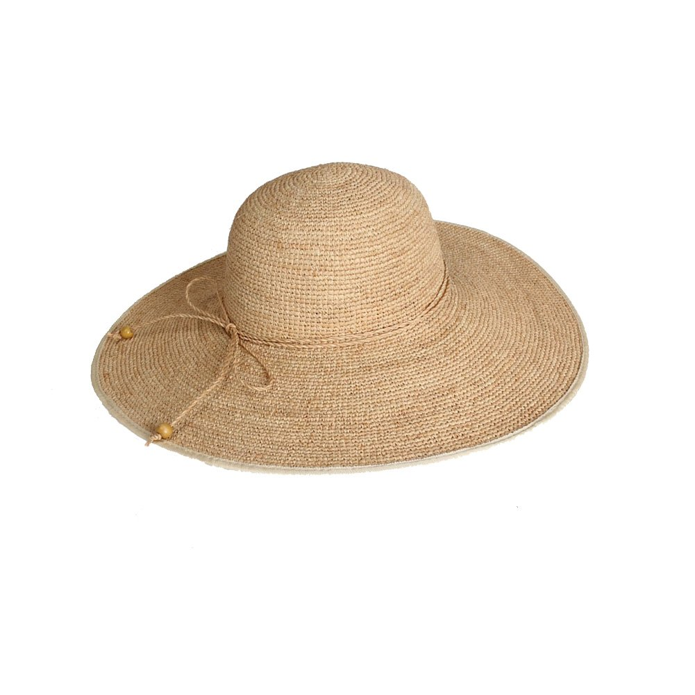 Khaki Womens Straw Hat Beach Hat Women's Summer Seaside Vacation Rafi Straw Hat Foldable Large Brim Visor Hat (color   Khaki)