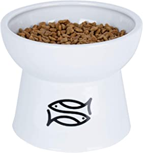 Vencer Raised Cat Food/Water Bowl (High-Capacity),VCB-002
