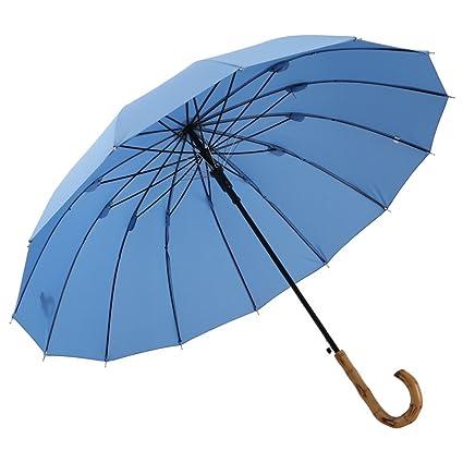 ZHUSAN Paraguas Sombrilla con 14 Costillas Protección Solar Negocio Extra Grande Mango Largo Refuerzo A Prueba