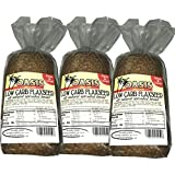 Oasis Flaxseed Bread, 3 Pack- Low Carb, All Natural, Sprouted