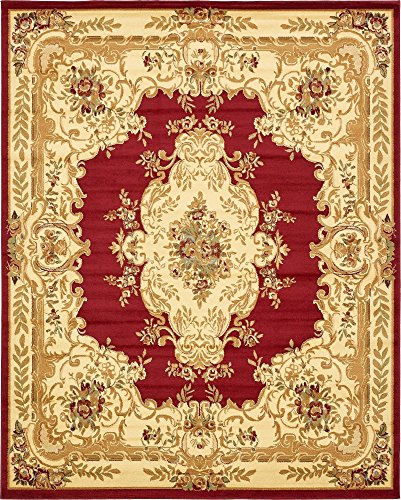 Unique Loom Versailles Collection Traditional Classic Red Area Rug (8' 0 x 10' 0) ()