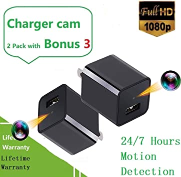 1080P HD Motion Activated Smartphone Charger Power Cord Hidden Spy Camera