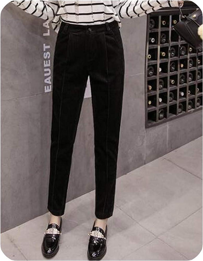 Amazon Com Pantalon De Pana Para Mujer Estilo Vintage Color Negro 76 Xxl Clothing