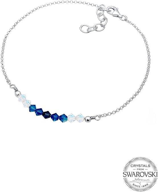 Elli Femme Bracelet de Cheville Perle Rose 925 Argent