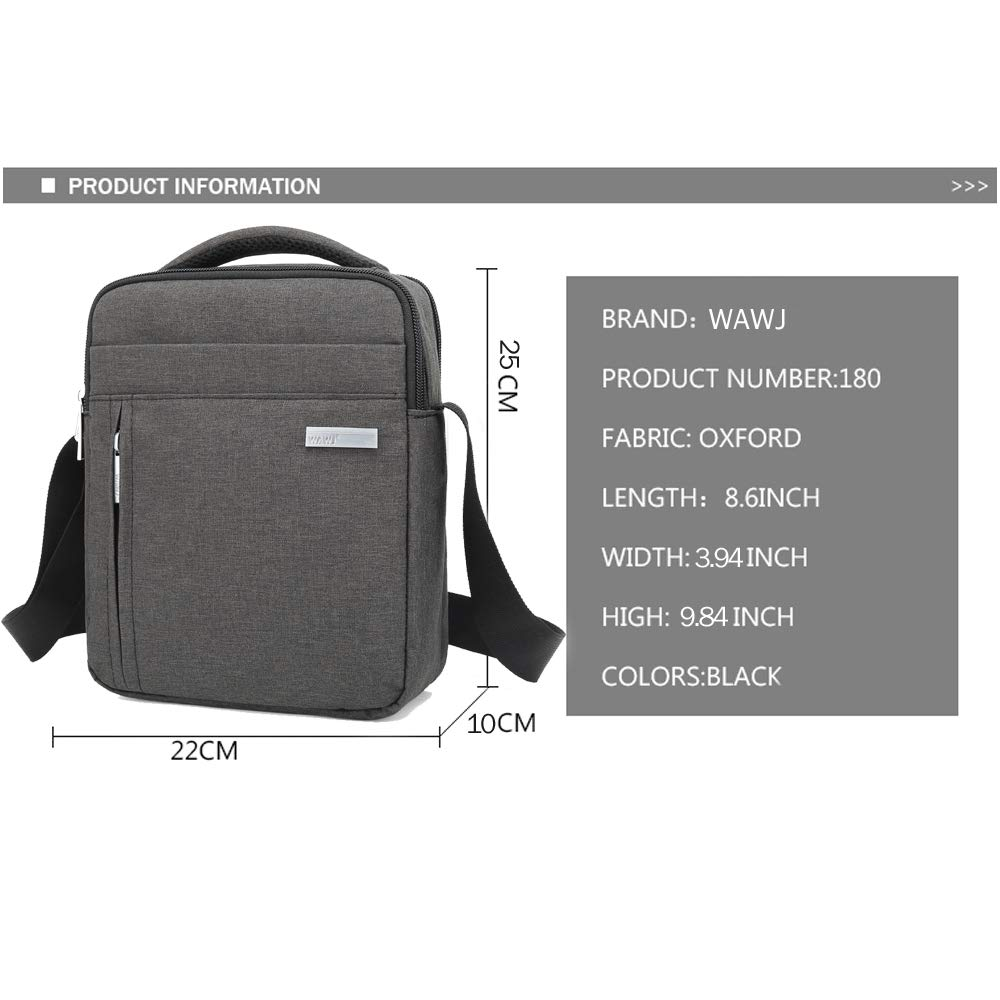 WAWJ Store Male Messenger Bag Briefcase for Documents Small Casual Bag Mens Single Shoulder Crossbody Bags