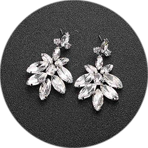 Fashion Austrian Crystal Alloy Bridal Long Earrings for Women Wedding Big Earrings for Bride Bridesmaids,ERS-J3009-S