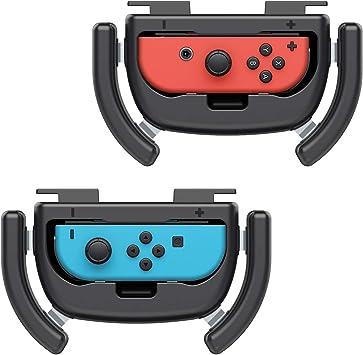 MoKo Controller de HyperDrive para Nintendo Switch, [Pack de 2] Manipular el Agarre del Juego de Carrera, Mango Resistente al Desgaste para el Control Joycon de Nintendo Switch – Negro: Amazon.es: Electrónica