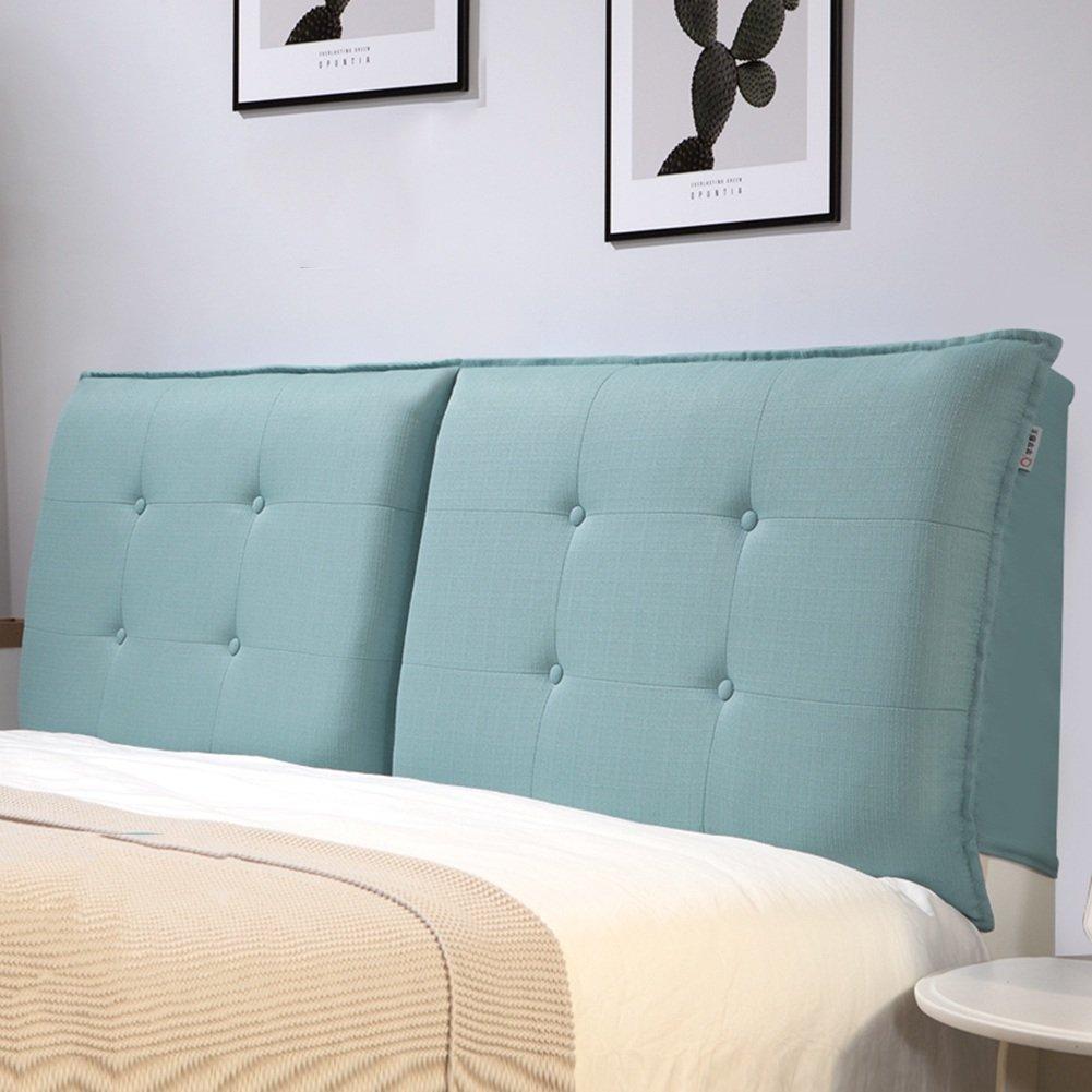 QIANGDA クッション ベッドの背もたれ マットレス ヘッドボード バックレスト 布パッド 取り外し可能な シングル/ダブル ベッドルーム 5ソリッドカラー、 5サイズ 利用可能 ( 色 : Azure blue , サイズさいず : 90 x 10 x 50cm ) B07B2HLYGB 90 x 10 x 50cm|Azure blue Azure blue 90 x 10 x 50cm