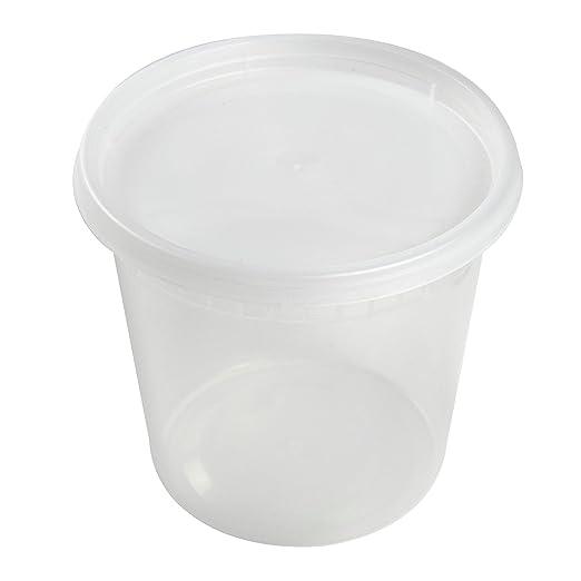 AmerCare - Caja de 240 recipientes transparentes Deli con tapa ...