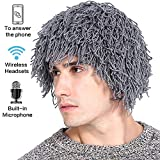 CoCo Fashion Women Men's Knit Bearded Hats Wig