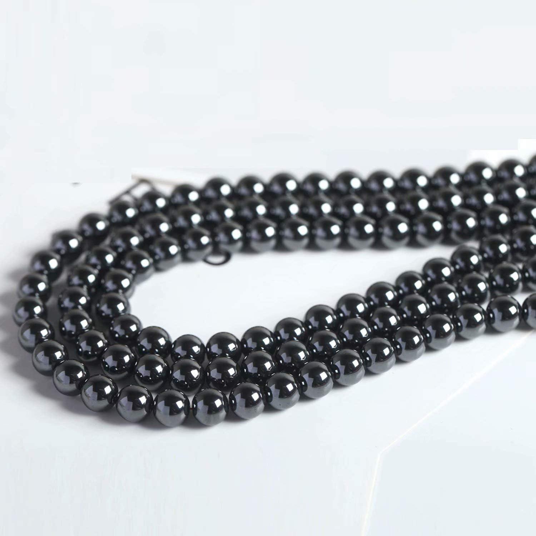 Non Magnétique Hématite PCS pierres précieuses fabrication de bijoux Perles Rondes 14 mm Gris 25