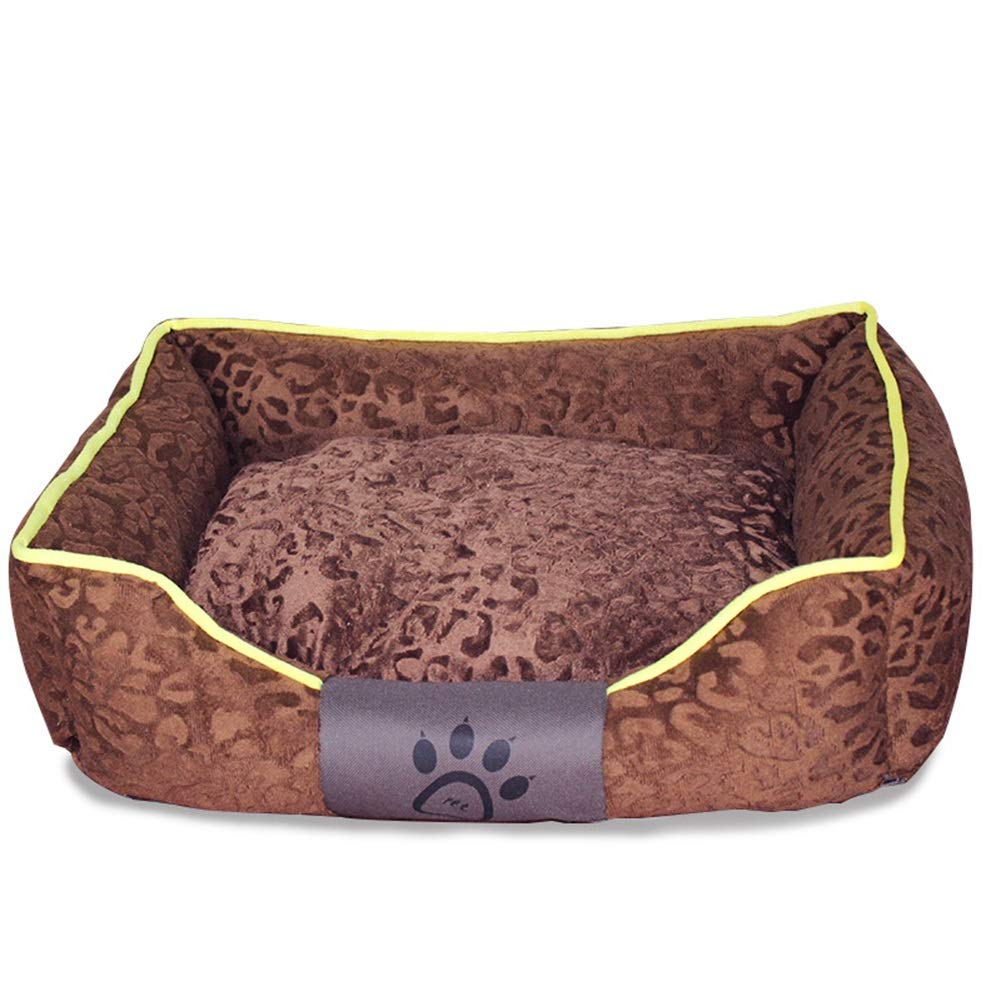 BROWN M66ccwwww Pet bed Kennel cat litter, removable and washable pet nest medium and small kennel dog bed dog supplies suitable for 20 kg dog (color   RED, Size   M)
