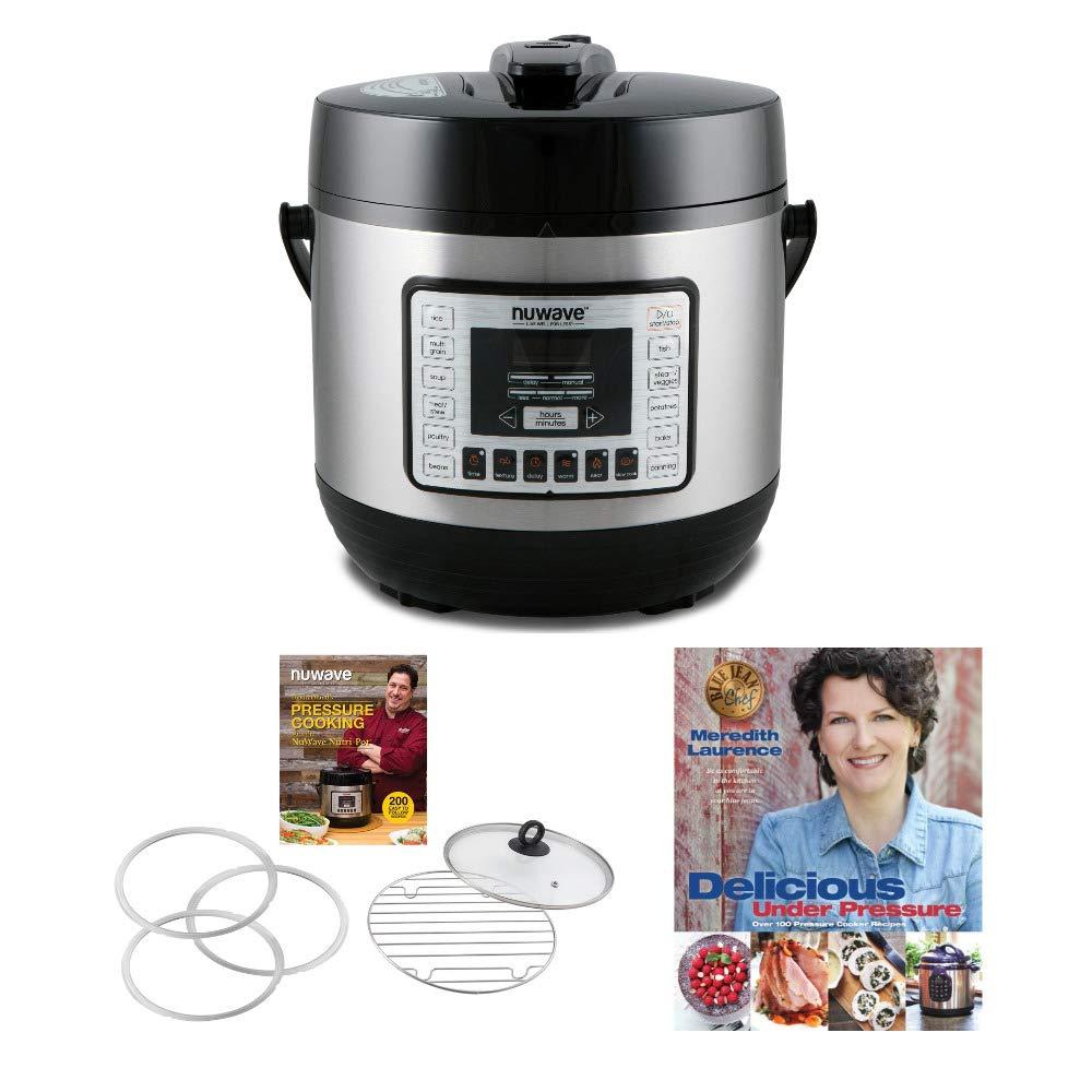 "NuWave 33101 Nutri-Pot Digital Pressure Cooker (6 qt.) w/ 6-qt. Pressure Cooker Accessory Kit +""Delicious under Pressure"" Cookbook by Meredith Laurence Bundle"