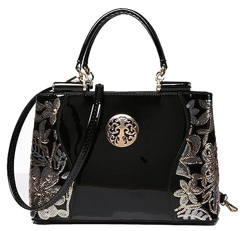 Ghlee 2017 New Fashion Women s Patent Leather Bag Ladies Handbag Shoulder  Messenger Bag Large Tote Bag a28466ba97eb2