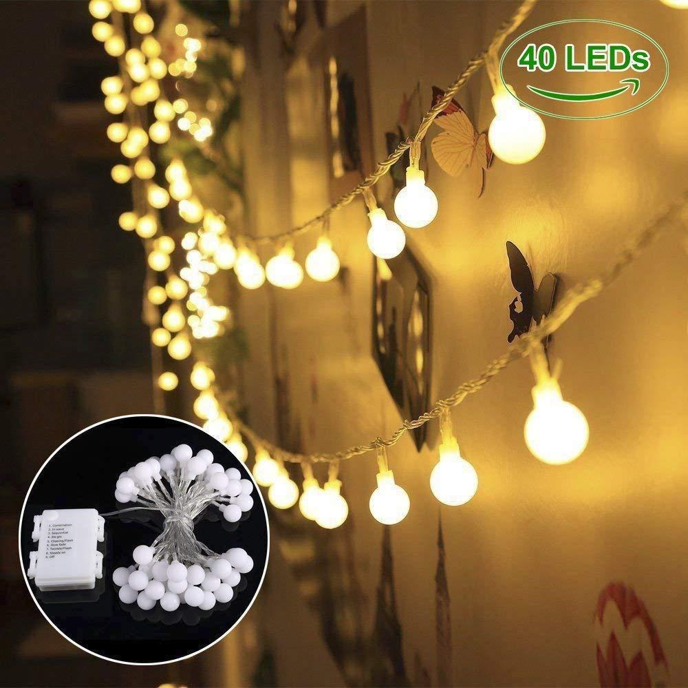 Catena luminosa! B-right 13m 100LED Lucine decorative stringa luci impermeabili IP65, funziona a corrente, 8 modalità d'illuminazione, 29V UL adattatore, ideale decorazione per feste come Natale, compleanno, matrimono, patio, giardino, occasione speciale e