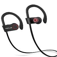 Bluetooth Kopfhörer kabellos, TOPLUS bluetooth kopfhoerer sport joggen Bluetooth 4.1 Stereo In Ear Kopfhörer schweißfest inklusive Mikrofon für iPhone Samsung andere Smartphone oder Bluetooth-Gerät (Schwarz)