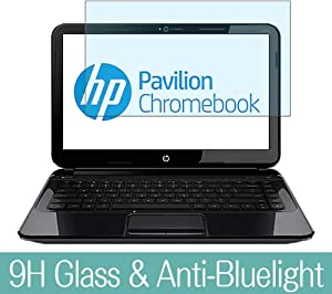 "Synvy Anti Blue Light Tempered Glass Screen Protector for HP Pavilion Chromebook 14-c000 si / c010us / c050nr / c025us / c020us / c015dx / c002sa / c001sa 14"" Visible Area Film Protectors"