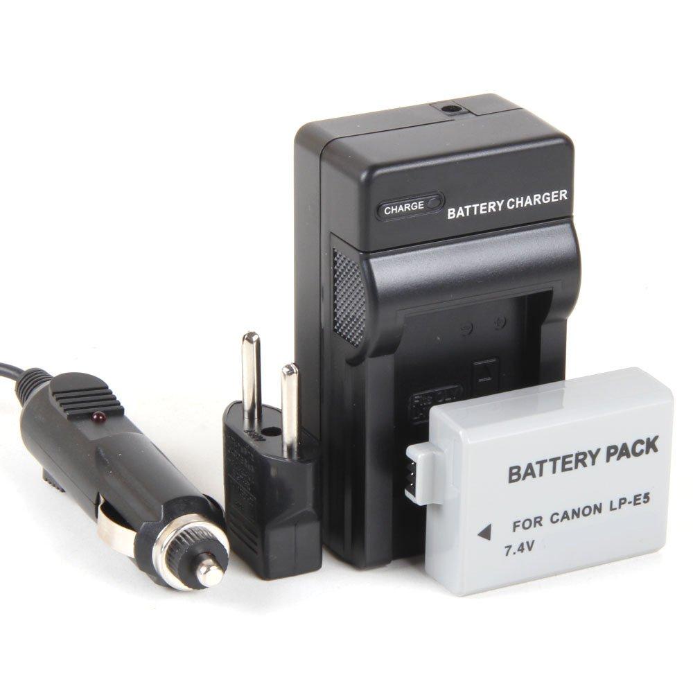 Disko - Cargador + Batería LP-E5 LPE5 1080mAh para Canon EOS ...