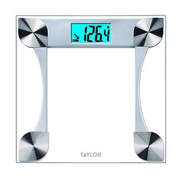 Taylor 7595 peso báscula digital de cristal con seguimiento