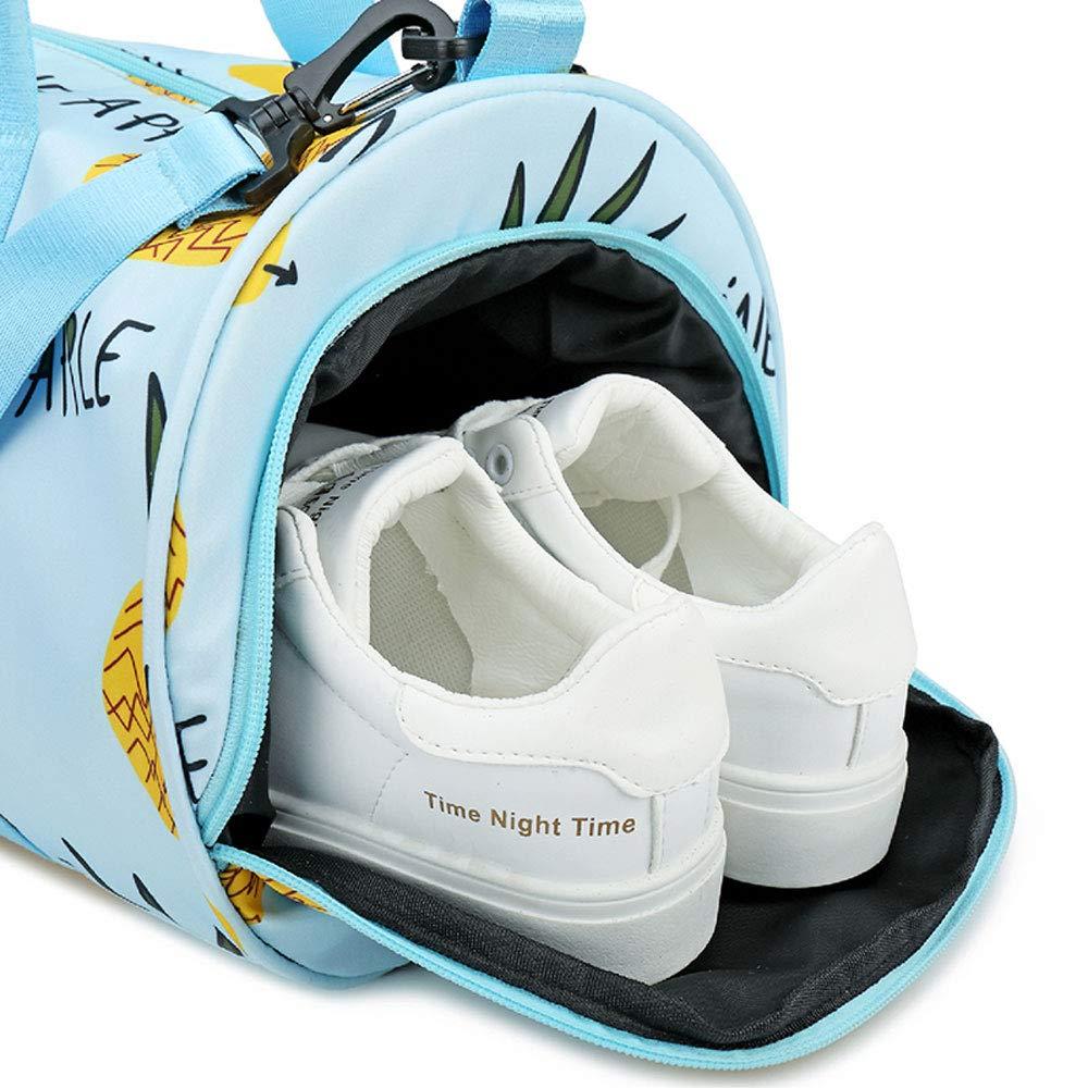 XF Gym Totes Sports Bag Dry and Wet Separation Swimming Bag Female Belt Shoes Waterproof Bag Printing Shoulder Bag Fitness Bag Color : A, Size : 45cmx22cmx22cm 45cmx22cmx22cm Gym Bags