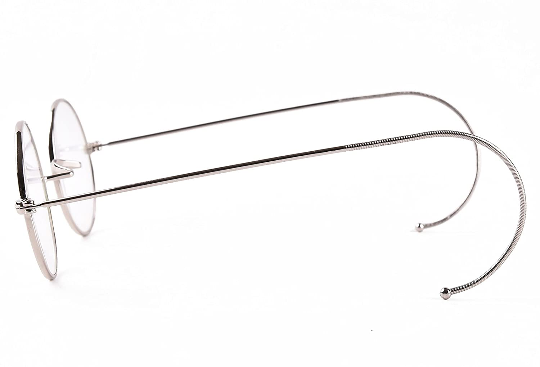 Agstum Retro Small Round Optical Rare Wire Rim Eyeglasses Frame