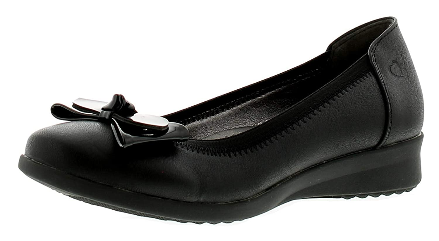 84db30665b44 Heavenly Feet Annabel Womens Ladies Flats Shoes Black - Black - UK Sizes  3-8: Amazon.co.uk: Shoes & Bags