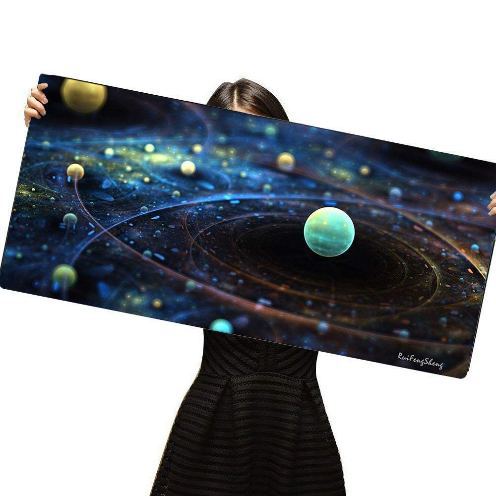Non-Slippery Rubber Base, 35.4 * 15.7 90x40 Forest018 Edge Stitched Ruifengsheng Large Gaming Mouse Pad,Extra Large Size Mat,Extended XXL Size Mouse Pad