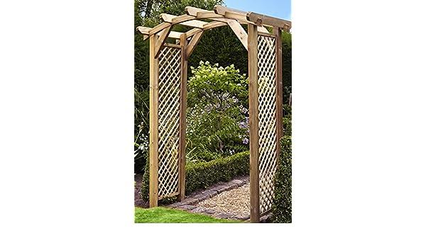 HGG arco de madera para jardín – curvado diseño de arco – Rosa arco – arco para jardín: Amazon.es: Jardín