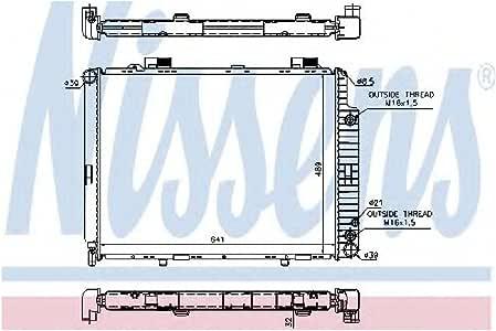 NISSENS 62921A Engine Coolant Radiator