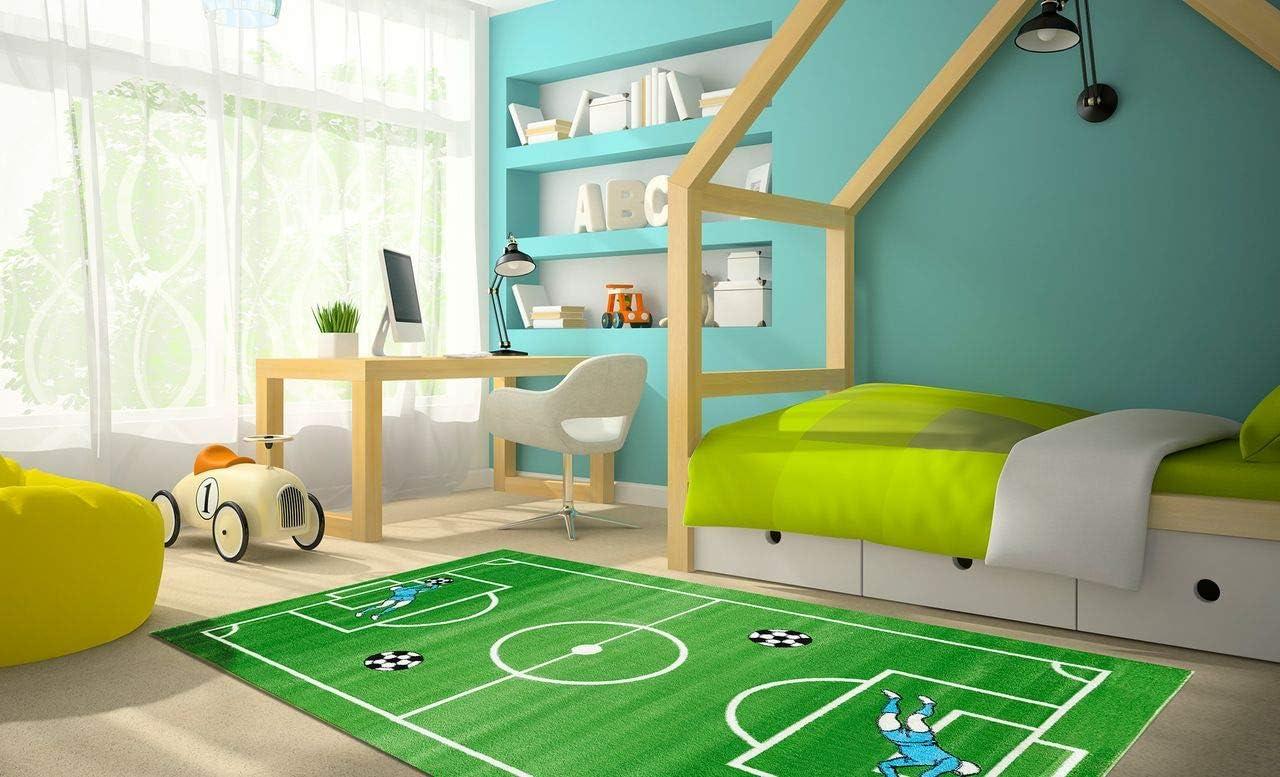 Tapis pour Enfant et Jeux Softstar Kids 5 Tailles Disponibles Terrain de Football Vert
