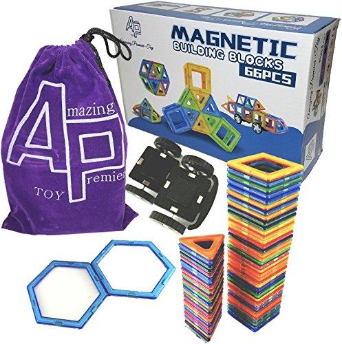 amazing-premier-toy-educational-magnetic-building-tiles-blocks-toy-66-pcs-64-shapes-2-wheels-portabl