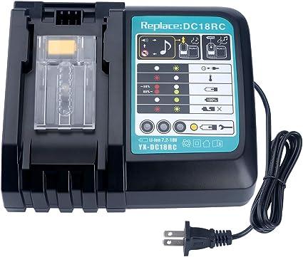 Amazon.com: Biswaye - Cargador de batería de litio DC18RC ...