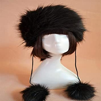 Banggood 1X Faux Fox Fur Russian Cossack Style Woobies Snow Winter Fur Coat  Hats Black by Bangood  Amazon.co.uk  Beauty 3433bc29843