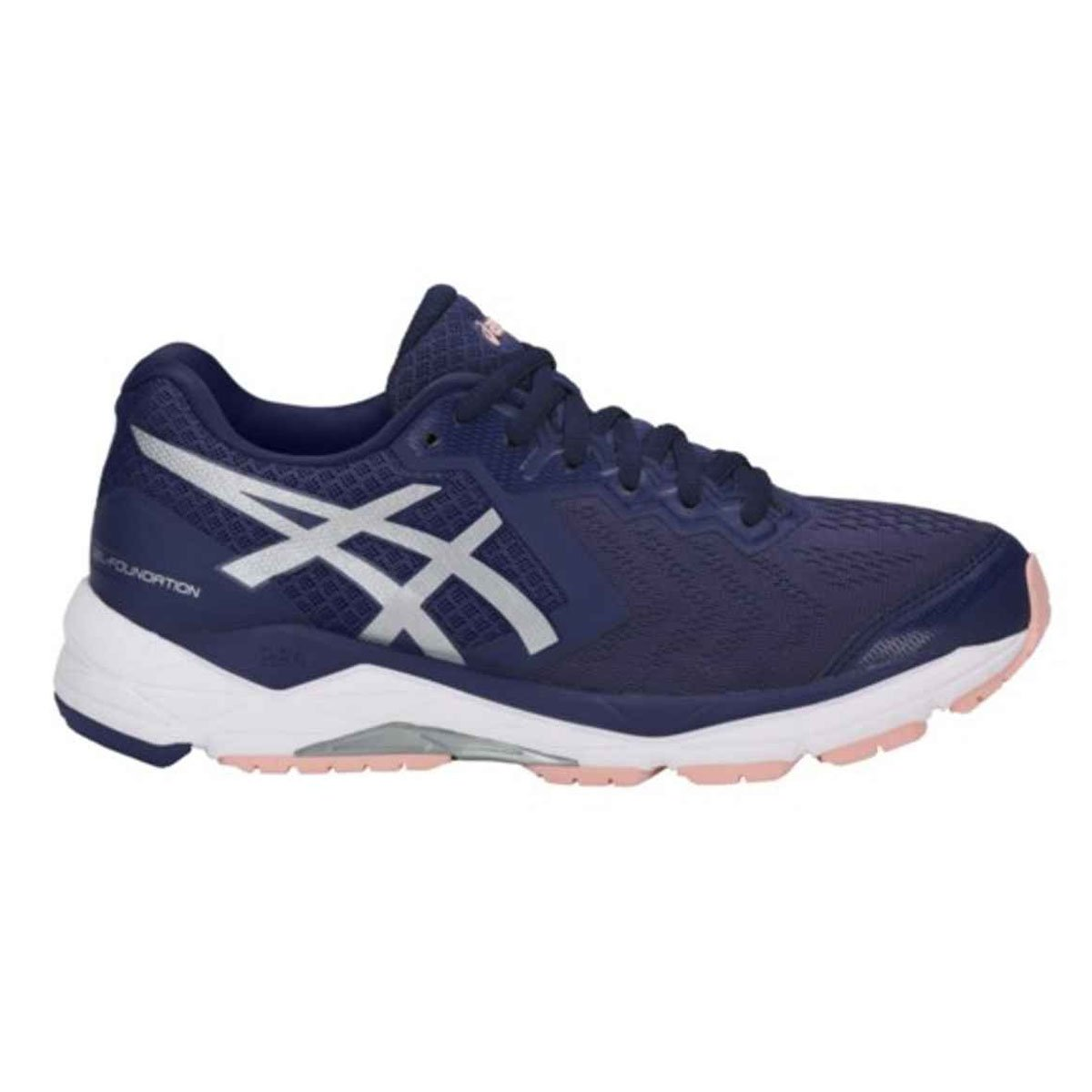 2f98c80eaeaeb ASICS GEL-Foundationr 13 Indigo Blue/Silver/Seashell Pink Women's Running  Shoes