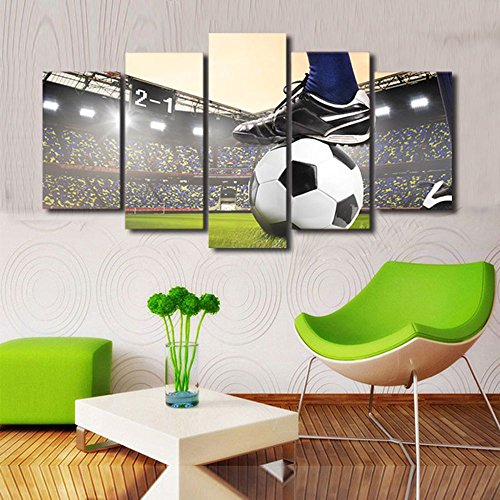 Soccer Oil Painting - Canvas Art Soccer Match Oil Painting Sports Football Course Wall Pictures for Living Room Wall Art Painting Pictures Print On Canvas Art The Picture For Home Modern Decoration